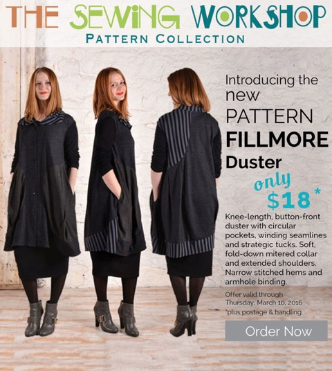 Introducing The Fillmore Duster Threadwear 301 The Sewing Workshop