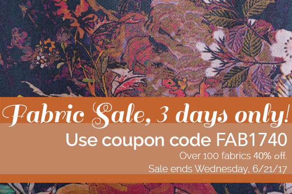 Three Day Fabric Sale!