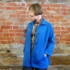 Chicago jacket made in a heavy blue wool knit