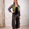 eJacket sewing pattern made in a green silk fabric
