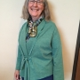 eJacket sewing pattern made in a teal knit fabric with tie front closure